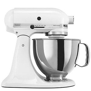 1. KitchenAid 5-Qt. White Stand Mixer (KSM150PSWH)