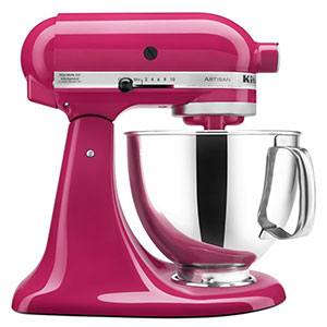 5. KitchenAid 5-Qt. Cranberry Stand Mixer (KSM150PSCB)