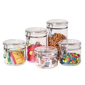 6. Oggi 5-Piece Food Storage Container Set (9322)