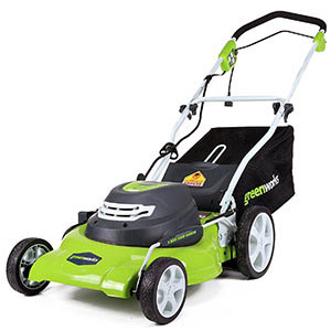 1. GreenWorks 12 Amp Lawn Mower (25022)
