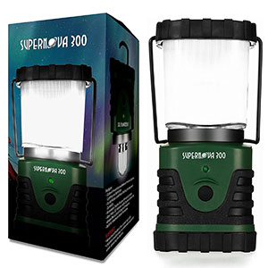 6. Supernova Camping and Emergency Lantern (300 Lumens)
