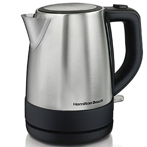 2. Hamilton Beach 1 L Silver Electric Kettle (40998)