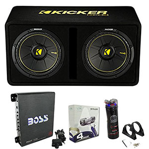"7. Kicker 12"" Car Subwoofers (44DCWC122)"