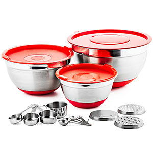 7. Chefs Star Mixing Bowl Set (17 Piece)