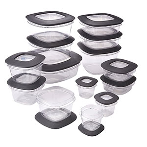 5. Rubbermaid 28-Piece Set Food Storage Containers