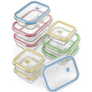 4. Vremi 18 Piece Food Storage Container Set