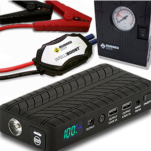 9. RUGGED GEEK Portable Jump Starter