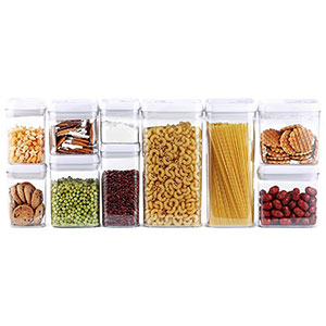 7. DRAGONN Food Storage Container Set (10-Piece)