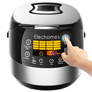 8. Elechomes CR502 Rice Cooker (10 Cups – Uncooked)