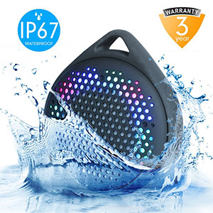 10. AVWOO Waterproof Bluetooth Speaker