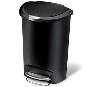 2. simplehuman 50 L/13 Gal Black Plastic Trash Can