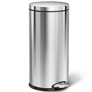 10. simplehuman 35 Liters/9 Gallons Round Step Can