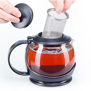 8. bobucuisine Glass Teapot with Infuser and Warmer