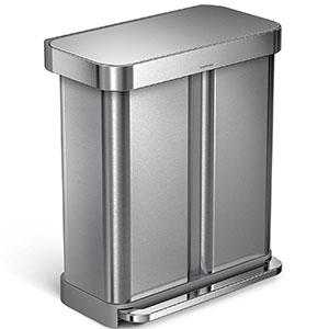 7. simplehuman 58 Liter/15 Gallon Rectangular Can