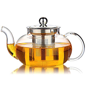 5. Hiware 27 Ounce/800 ml Glass Teapot