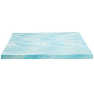 "2. Dreamfoam Bedding 2"" Blue Memory Foam Topper (DF20GT2050)"