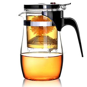 7. BOCHA 800ml Loose Leaf Tea Maker with Glass Teapot