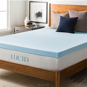 1. Lucid Queen 3-inch Memory Foam Mattress Topper