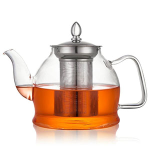 2. Hiware Glass Teapot with Removable Infuser (1000ml)