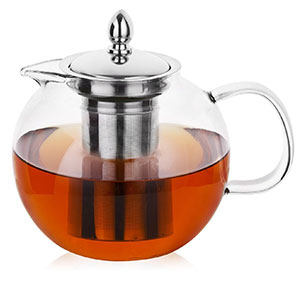 1. Hiware Glass Teapot with Removable Infuser