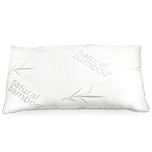 6. Zen Bamboo Queen Memory Foam Pillow