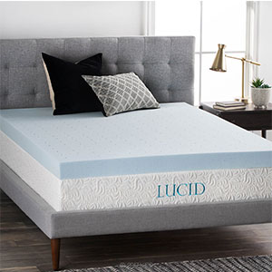 3. Lucid 4 Inch Queen Memory Foam Mattress Topper