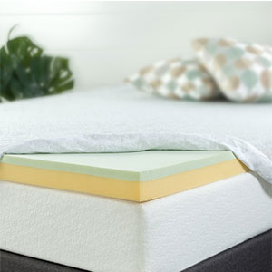 10. Zinus Green Tea 3 Inch Mattress Topper