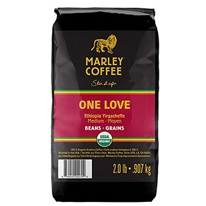 8. One Love Marley Coffee Organic Coffee