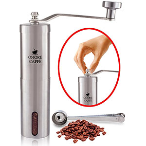 6. ONORE CAFFE Revolutionary Coffee Grinder