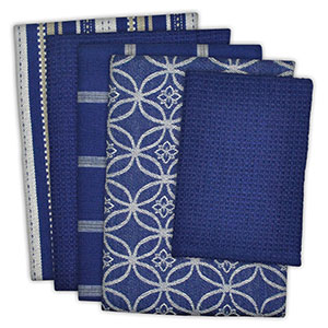 7. DII Kitchen Dish Towels (Set of 5) – Nautical Blue