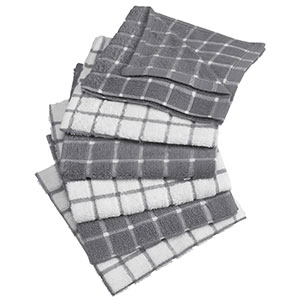 4. DII Cotton Terry Dish Cloths (Set of 6)