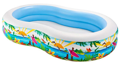4. Intex 103x63x18 Swim Center Paradise