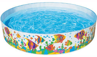 10. Intex Ocean Reef Inflatable Snapset Pool