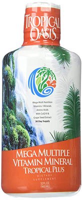 6. Tropical Oasis Mineral Supplement and Liquid Multivitamin