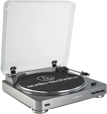 7. Audio-Technica Silver AT-LP60 Belt-Drive Stereo Turntable