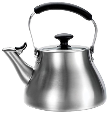 1. OXO Good Grips Brushed Stainless Tea Kettle
