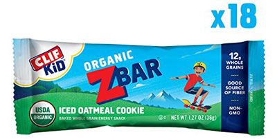 10. Clif Bar Organic Energy Bar – Iced Oatmeal Cookie (18 Count)