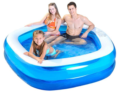 7. Jilong Pentagon 79x77x18.5 Inflatable Family Pool