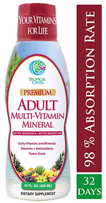 4. Tropical Oasis Mineral Supplement Adult Liquid Multivitamin