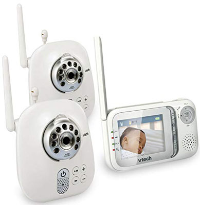 8. VTech VM321-2 Video Baby Monitor with Night Vision and Two Cameras