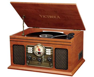 5. Victrola Nostalgic Classic Wood 6-in-1 Bluetooth Turntable