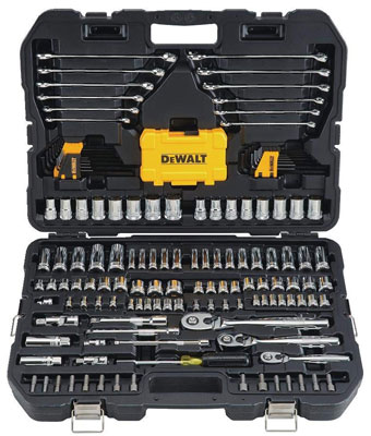 10. DEWALT DWMT73803 Mechanics Tool Kit Set (168 Piece)