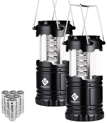 1. Etekity CL 10 2-pack LED Camping Portable Lantern Flashlights