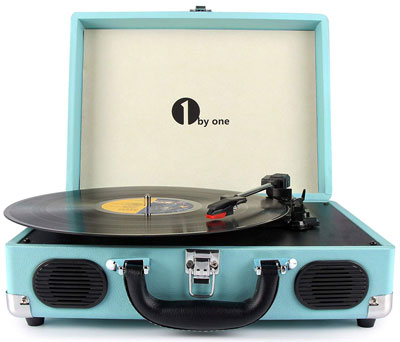 10. 1byone Belt-Drive 3-Speed Stereo Turntable