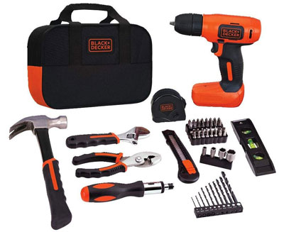 7. Black & Decker BDCD8PK Drill Project Kit, 8V