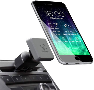 3. Koomus Magnetic Phone Car Mount