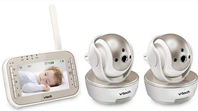 10. VTech VM343-2 Video Baby Monitor with 2 Cameras