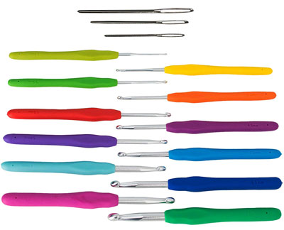 4. Athena's Elements Extra Long Ergonomic Crochet Hooks