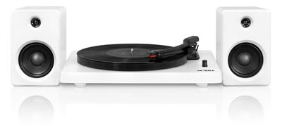 6. it. innovative technology Victrola 3-Speed Turntable with 50 Watt Speakers