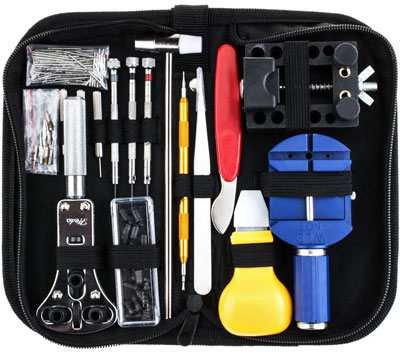 6. Vastar 147 PCS Watch Repair Kit with Carrying Case